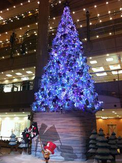 ランドマークのクリスマスツリー