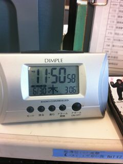 猛暑!午前中に室内温度は30度を突破した